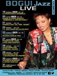 Bogui Jazz | Conciertos octubre 2016 | Cartel Deborah Carter