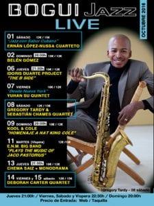 Bogui Jazz | Conciertos octubre 2016 | Cartel Gregory Tardy