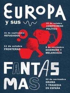 'Europa y sus fantasmas' | Compañía laperaÓpera | CentroCentro Cibeles | Madrid | 21/09 al 22/11/2016 | Cartel | Diseño Studio Patten