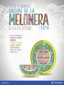 Fiestas de la Melonera 2016 | Arganzuela | Madrid | 08-18/09/2016 | Cartel