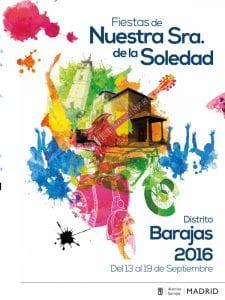 Fiestas Virgen de la Soledad 2016 | Barajas | Madrid | 13-19/09/2016 | Cartel