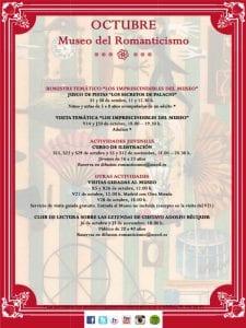 Museo del Romanticismo | Madrid | Programa de actividades | Octubre 2016 | 1