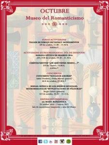 Museo del Romanticismo | Madrid | Programa de actividades | Octubre 2016 | 2