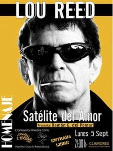 Satélite del Amor | Homenaje a Lou Reed | 'Bolo' García y Camiseta i media | Sala Clamores | Madrid | 05/09/2016