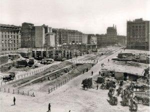Gran Vía de Madrid | Obras de construcción del segundo tramo | Edificado entre 1917 y 1922