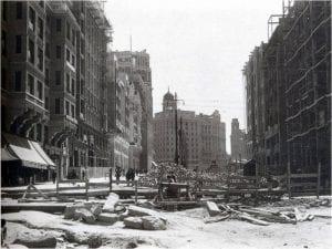 Gran Vía de Madrid | Obras del primer tramo | Construido el tercero entre 1925 y 1929