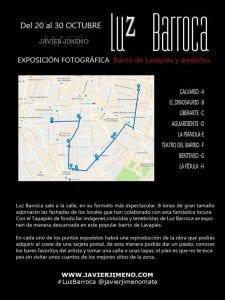 Luz Barroca | Javier Jimeno | 20 al 30/10/2016 | Exposición fotográfica | Barrio de Lavapiés y aledaños