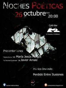 'Noches Poéticas' | Café Bar K2 | Bilbao | 26/10/2016