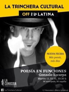 'Poesía en funciones' | Gonzalo Escarpa | Off de La Latina | 11/10/2016 | La Latina - Centro - Madrid