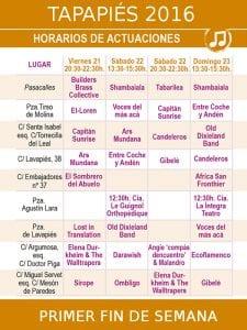 Tapapiés 2016 | 20 al 30/10/2016 | Lavapiés - Madrid | Conciertos primer fin de semana