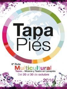 Tapapiés 2016 | 6ª Ruta Multicultural de la Tapa y la Música de Lavapiés | 20 al 30/10/2016 | Madrid | Cartel