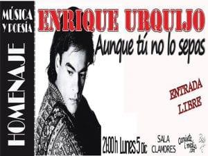 'Aunque tú no lo sepas. Homenaje a Enrique Urquijo' | Música y Poesía | Camiseta imedia & Bolo García | Sala Clamores | Madrid | 05/12/2016