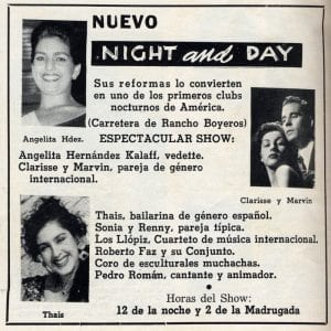 En esto llegó Fidel se acabó la diversión | Anuncio en prensa del nuevo club Night and Day | La Habana - Cuba | 1958