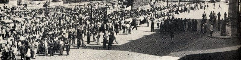 En esto llegó Fidel, se acabó la diversión   Concentración contra el cierre de locales   La Habana - Cuba   1959