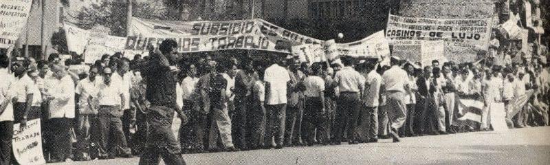 En esto llegó Fidel, se acabó la diversión   Concentración en 1959 contra el cierre de locales   La Habana - Cuba