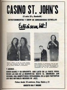 En esto llegó Fidel, se acabó la diversión | Publicidad Casino St. John's | La Habana - Cuba | 1958