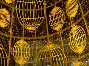 Iluminación navideña de Madrid | Árbol artificial dorado | Puerta del Sol | Madrid en Navidad 2016-2017