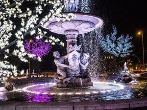 Iluminación navideña de Madrid | Fuente de la Alcachofa | Parque del Retiro | Madrid en Navidad 2016-2017
