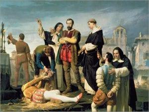 Los comuneros Padilla, Bravo y Maldonado en el patíbulo | Antonio Gisbert Pérez | 1860