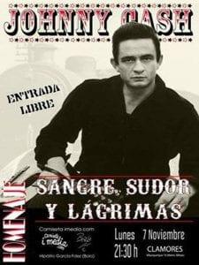 'Sangre, sudor y lágrimas'. Homenajea Johnny Cash | 'Bolo' García y Camiseta imedia | Sala Clamores | Madrid | 07/11/2016
