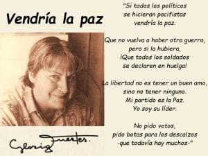 Si todos los políticos se hicieran pacifistas vendría la paz | Gloria Fuertes