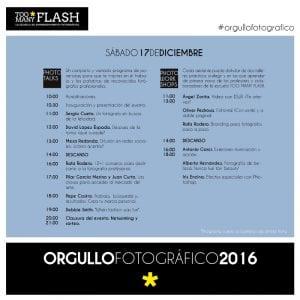 4º Día del Orgullo Fotográfico 'Too Many Flash' | Sábado 17 de diciembre de 2016 | Chamberí - Madrid | Programa