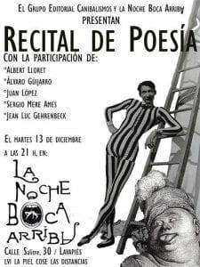 57 La piel cose las idstancias   13/12/2016   Recital de Poesía   Grupo Editorial Canibalismos   La noche boca arriba   Lavapiés - Madrid
