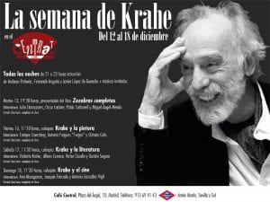 'La Semana de Krahe' | Conciertos y coloquios | Café Central | Madrid | 12 al 18/12/016 | Cartel