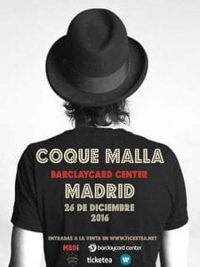 Coque Malla | Barclaycard Center | Madrid | 26/12/2016 | Cartel
