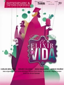 El Elixir de la Vida | Zarrataplám! y Tactum Ensemble | Cartel