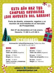 Feria de Navidad | Gira de Mercaderes | Mercado de Prosperidad | 27/12/2016 al 05/01/2017 | Chamartín - Madrid | Cartel actividades
