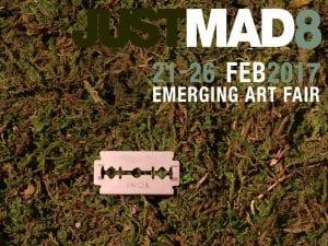JustMAD8 | Feria de Arte Emergente de Madrid | 21 al 26/02/2017 | Cartel