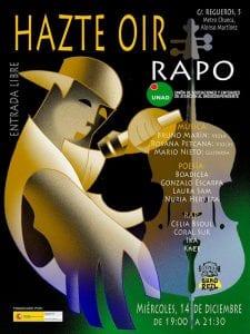 RAPO 'Hazte Oír' | Música, Poesía y Rap | Sala Búho Real | Madrid | 14/12/2016 | UNAD