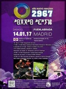 Celebración del Año Nuevo Amazigh 2967 en Fuenlabrada | Comunidad de Madrid | 14/01/2017 | Cartel