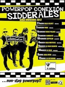 Concierto Sidderales, Los Manlys y Romeo | Rock Palace Music House | Arganzuela - Madrid | 04/02/2017 | Powerpop Conexión Sidderales - Gira Invierno 2017