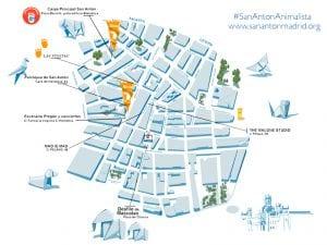 Fiestas de San Antón 2017 | La fiesta de los animales | Barrio de Chueca | Madrid | 13 al 17/01/2017 | Mapa actividades