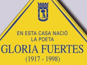Lavapiés Diverso 2015 | Placa 'En esta casa nació la poeta Gloria Fuertes' | 1917-1998