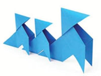 Pajaritas azules del Programa 'Tu papel 21 municipios' de ASPAPEL