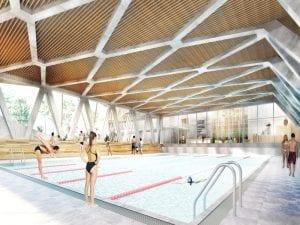 Polideportivo de la Cebada | La Latina | Centro | Madrid | Vista virtual de la piscina cubierta