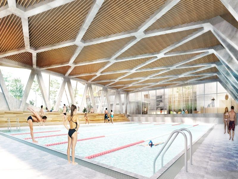 La latina recupera polideportivo y mantiene espacio for Cubiertas para piscinas madrid
