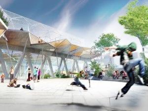 Polideportivo de la Cebada | La Latina | Centro | Madrid | Vista virtual del espacio público abierto