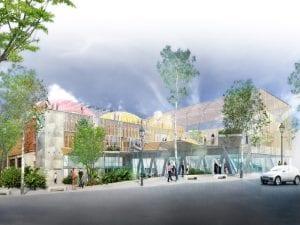 Polideportivo de la Cebada | La Latina | Centro | Madrid | Vista virtual del proyecto a pie de calle