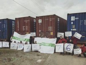 2ª Carrera Solidaria 'Corre Por Siria' | Paseo de la Castellana | Madrid | 19/02/2017 | AAPS-AER-AI | Contenedores