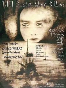 53º Poetry Sam Bilbao | LuzGas Café-Bar | Bilbao | 01/03/2017 | Cartel José Manuel Ezquerra