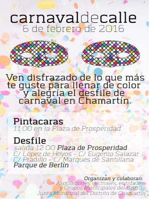 Carnaval de Calle | Distrito de Chamartín - Madrid | 06/02/2016