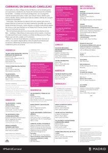Carnaval de Madrid 201| Del 24 de febrero al 1 de marzo de 2017 | San Blas-Canillejas | Madrid | Programación