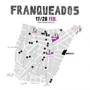 Franqueados JustMAD 2017 | Barrio de Malasaña | Madrid | 17 al 28/02/2017 | Mapa comercios participantes