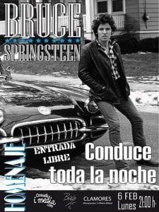 Homenaje a Bruce Springsteen | 'Conduce toda la noche' | 'Bolo' García y Camiseta i media | Sala Clamores | Madrid | Entrada libre | 06/02/2017