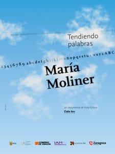 'María Moliner. Tendiendo palabras' | Vicky Calavia | Centro Cultural Conde Duque | Madrid | 02/03/2017 | Cartel