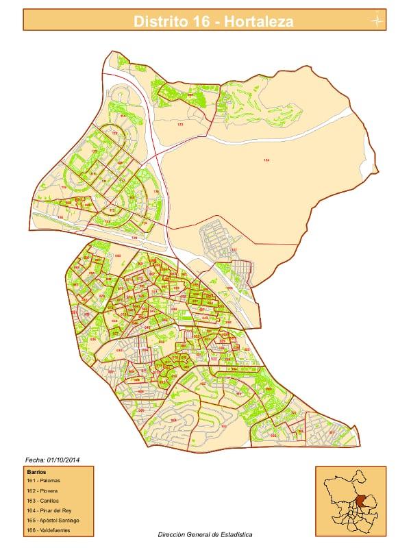 Barrio Hortaleza Madrid Mapa.Los 6 Barrios Del Distrito De Hortaleza De Madrid Pongamos